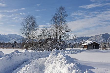 winter in isarwinkel bei bad toelz