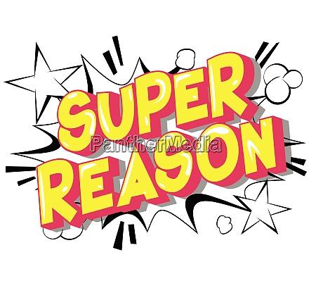 super reason vector illustrated comic