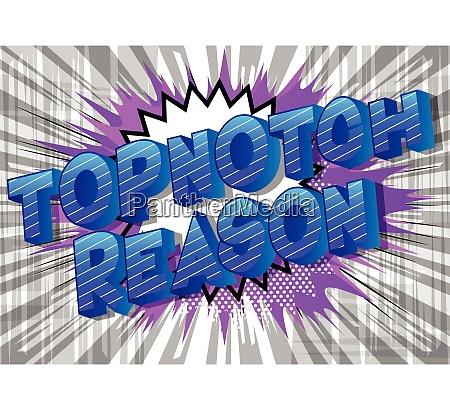 topnotch reason vector illustrated comic