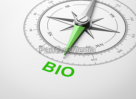 compass on white background bio concept