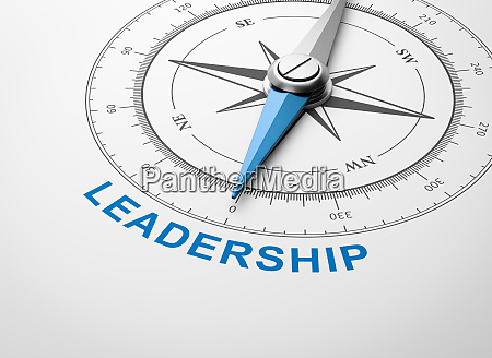 compass on white background leadership concept