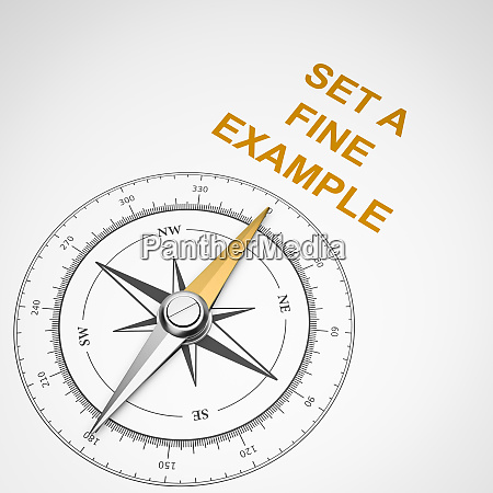 compass on white background set a
