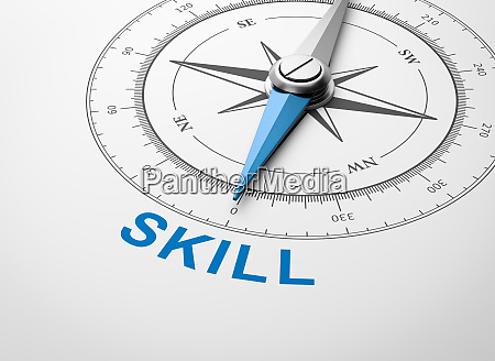 compass on white background skill concept