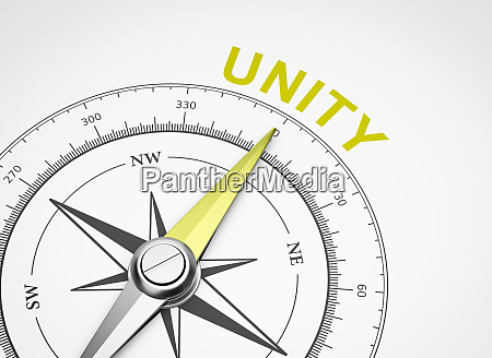 compass on white background unity concept