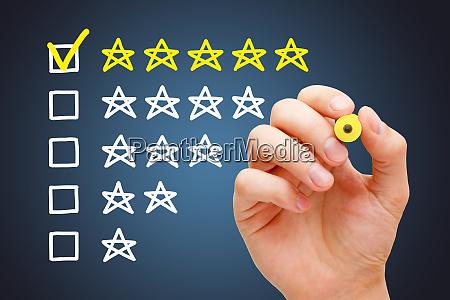 feedback fuenf stern kunde bewertung zufriedenheit