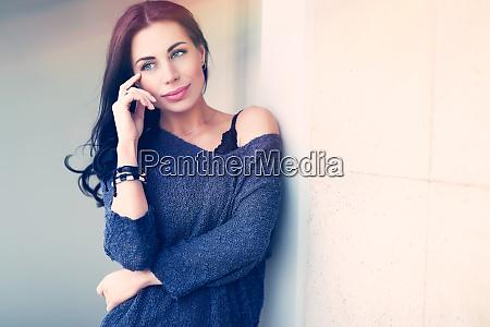 gorgeous serious female