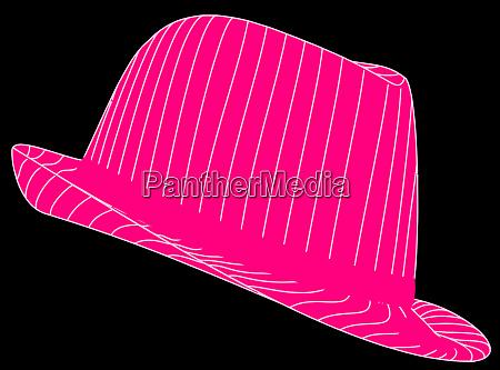 fedora pink hat vintage accessories culture