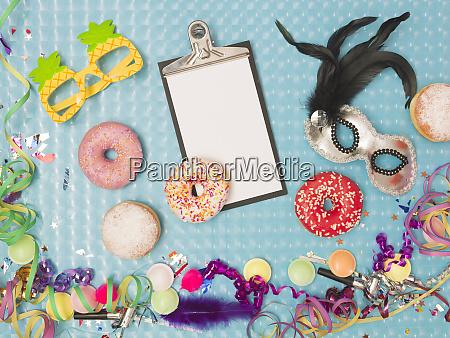 besonderer blauer effekt hintergrund mit donuts