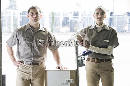 a team portrait of two caucasian