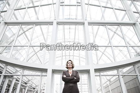 a portrait looking up at a