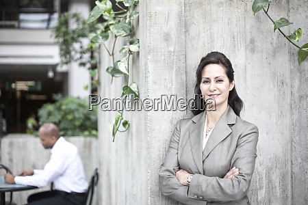 portrait of caucasian businesswoman