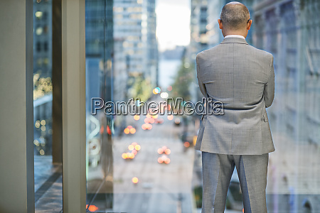 a view from behind a businessman