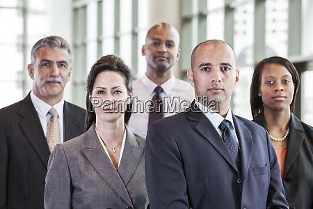 a mixed race group portrait of