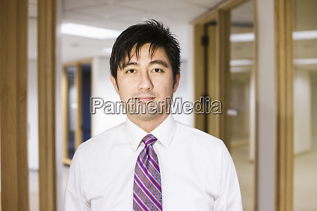 a portrait of an asian businessman