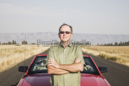 portrait of a senior caucasian man
