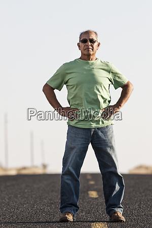 a portrait of a hip senior