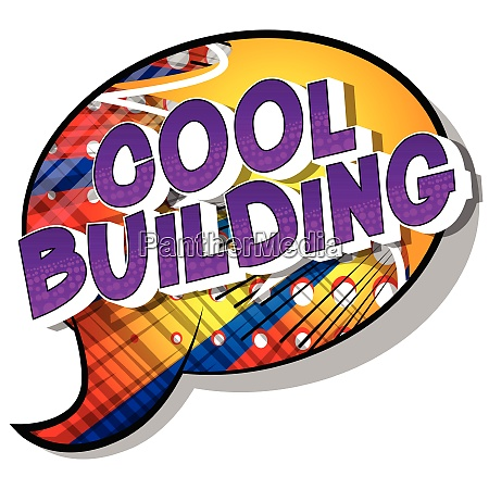 cool building comic book style
