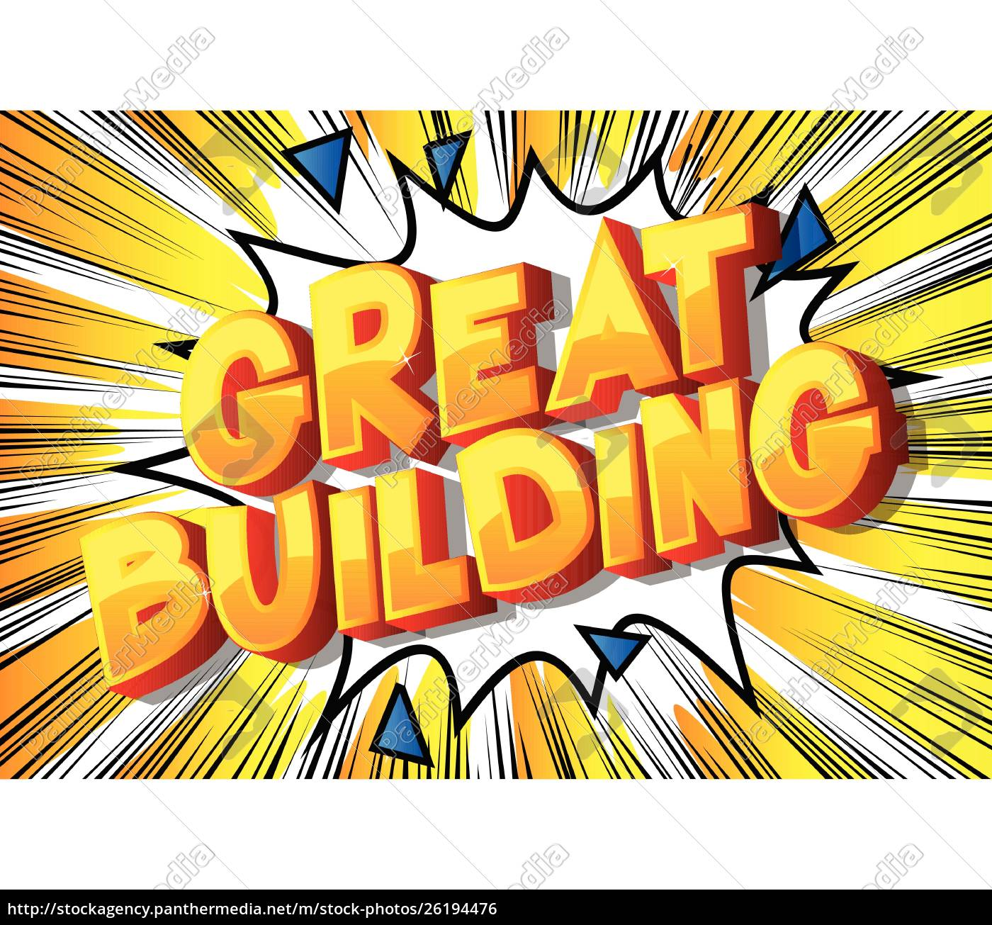 great, building-comic-buch-stil, wörter. - 26194476