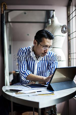 japanese male fashion designer working in