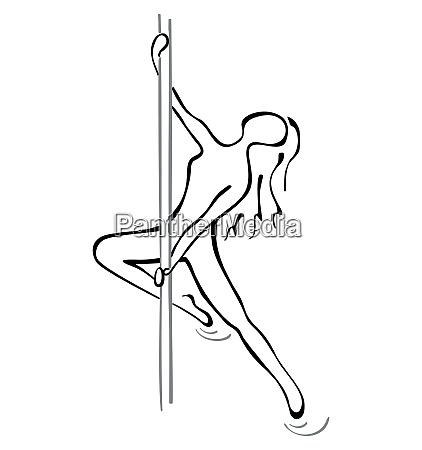 pole dance pose
