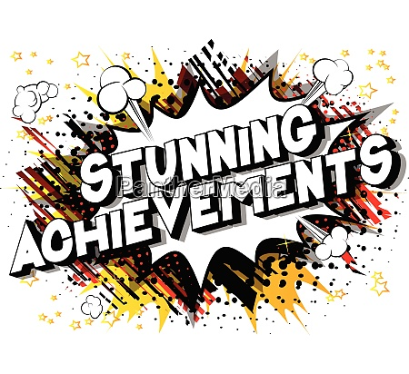 stunning achievements comic book style