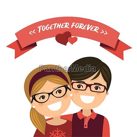 valentinstag paar verliebt junge und maedchen