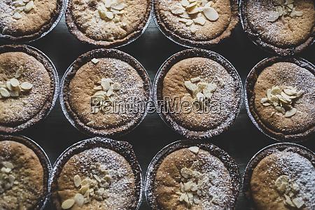 high angle view of freshly baked