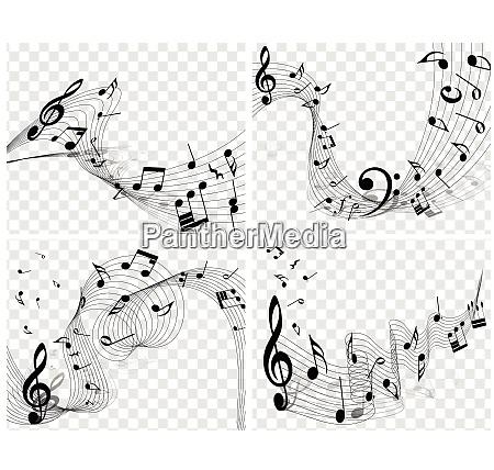musikalische designs musikalische designs mit elementen