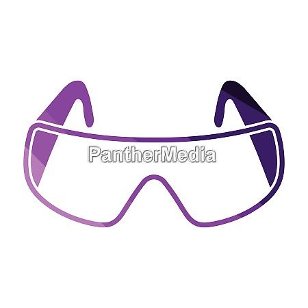 ikone der chemie schutzbrillen ikone der