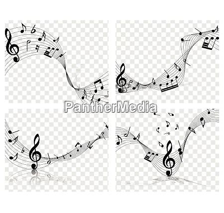 musikalische entwuerfe musical designs mit elementen