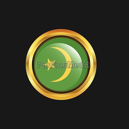 mauretanien flagge golden button