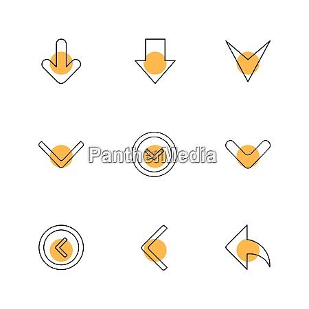pfeile richtungen zeiger pfeil benutzeroberflaeche zeiger