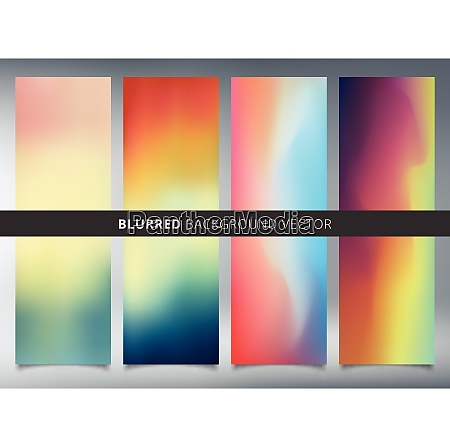 set of abstract colorful blurred vector