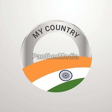 indien mein land flagge abzeichen