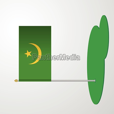 mauretanien flagge pole