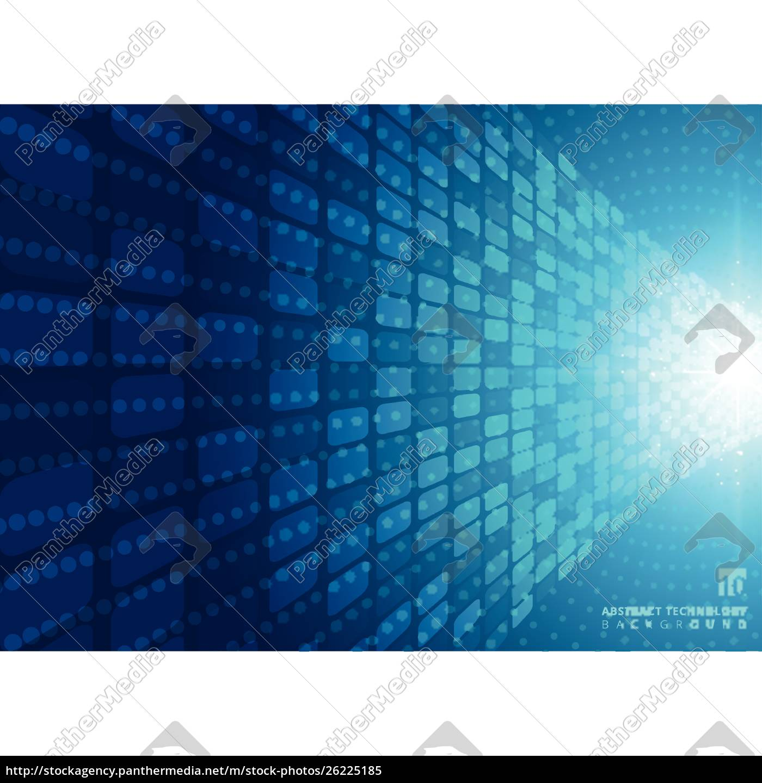 Lizenzfreie Vektorgrafik 26225185 Abstract Technology Concept With Blue Neon Radial Light Burst