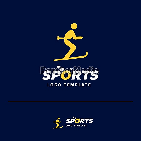 business card design with sports