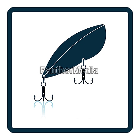 icon of fishing spoon on gray