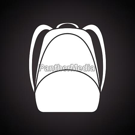 school rucksack icon black background