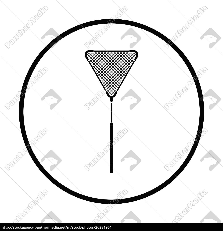 ikone, des, fischernetzes, ., dünne, kreis-design. - 26231951