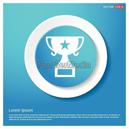 champion cup symbol abstract blue web