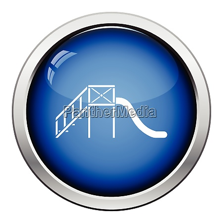 childrenrsquos slide icon glossy button design