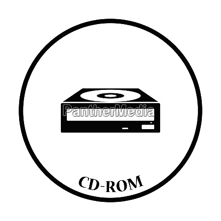cd rom icon flat color design