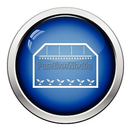 greenhouse icon glossy button design vector