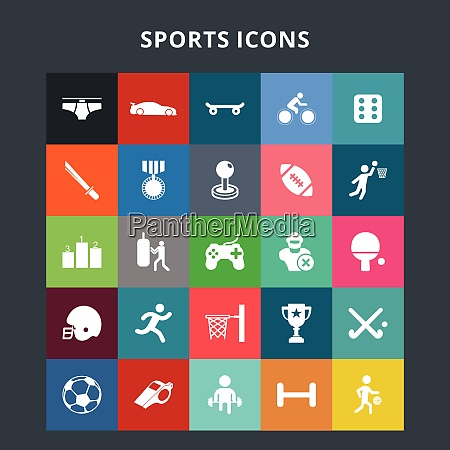 sports icons for web design and