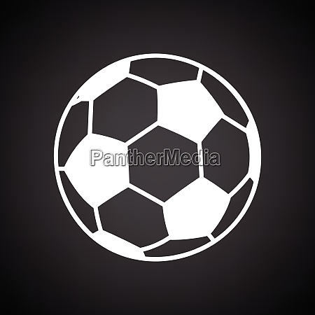 soccer ball icon black background with