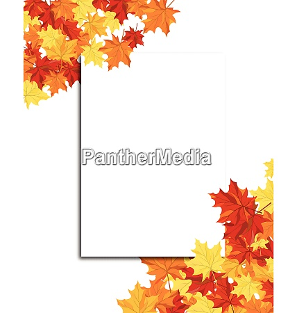 autumn frame with blank sheet