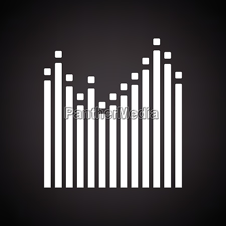 graphic equalizer icon black background with