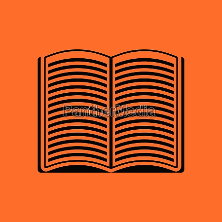 open book icon orange background with