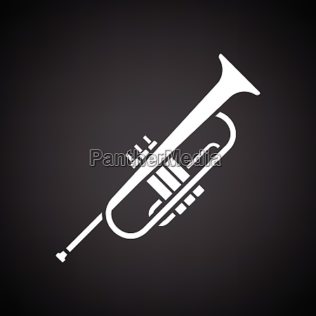 horn icon black background with white